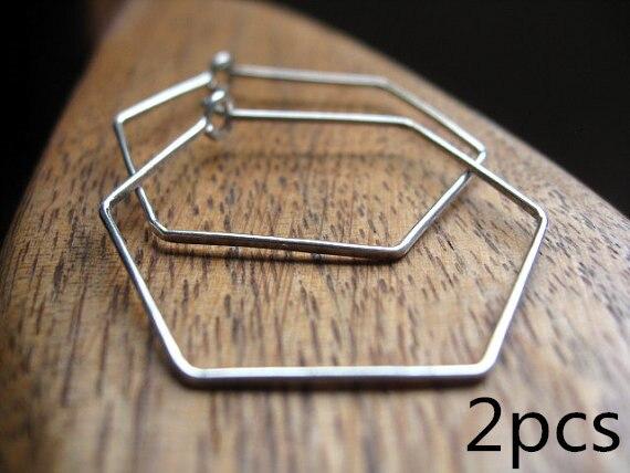da19628ea4db 2 unids hexágono aros Pendientes hecho a mano de plata esterlina oro rosa  relleno moda simple geométrico Alambres joyería para las mujeres en  Pendientes de ...