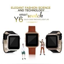 Smart watch aplus y6 uhr sync notifier unterstützung sim-karte bluetooth-konnektivität apple iphone android telefon smartwatch uhr