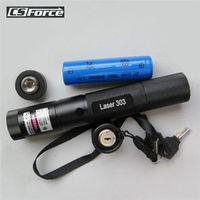 Groene Laser Pointer 303 5 mW Laser Pointer Pen Beam Light High Power Burning Match 18650/16340 Acculader Tactische Jacht