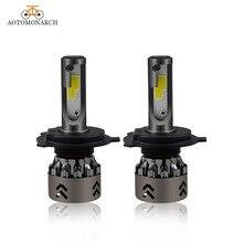 AOTOMONARCH 2PCS H7 H4 LED H1 H11 HB3 HB4 Car Headlight Bulbs 8000LM 6500K Super Bright Conversion Kit Plug& Play Automotive DJ