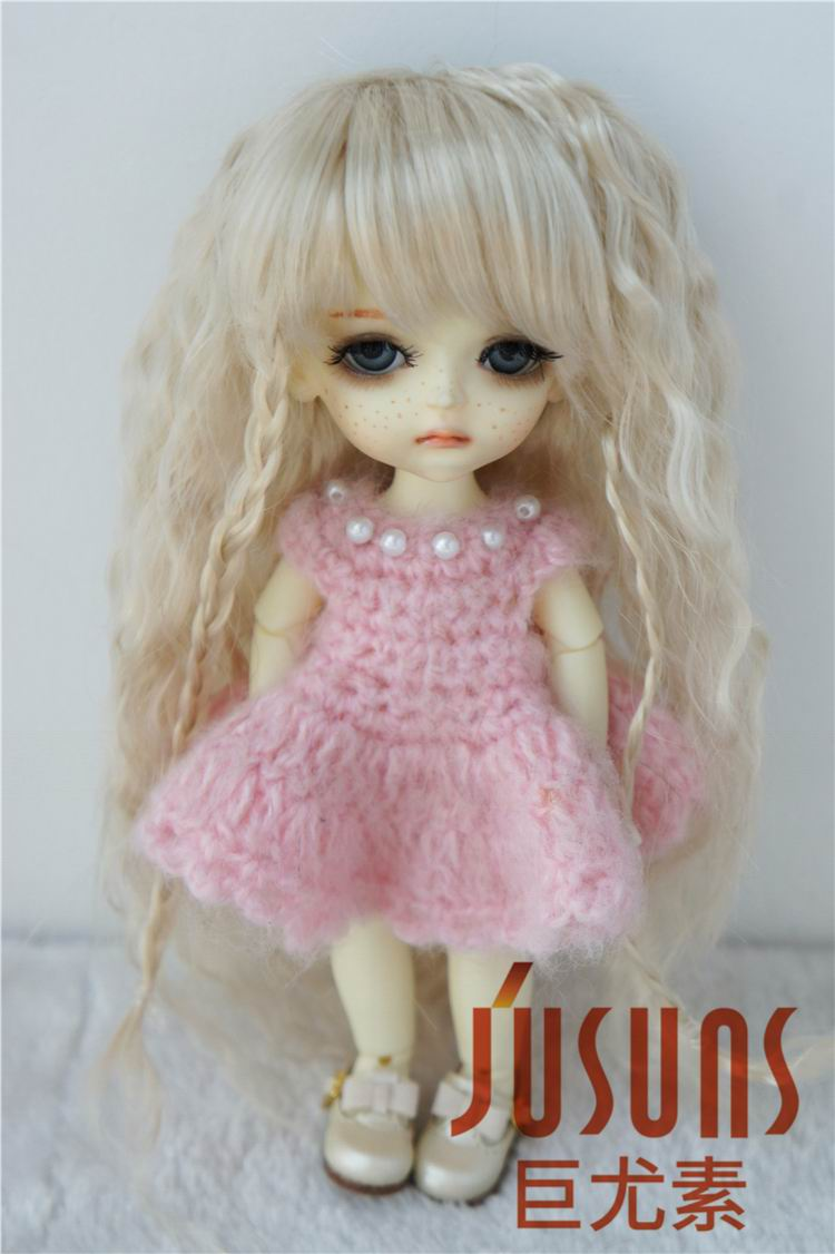 JD149 1/12 1/8 BJD wigs Middle Sauvage wig size 3-4 inch 4-5 inch 5-6inch Synthetic mohair Doll wig fashion doll accessories beautiful doll wig long wavy wigs for dolls accessories fashion synthetic doll hair 1 4 1 6 bjd wig good quality