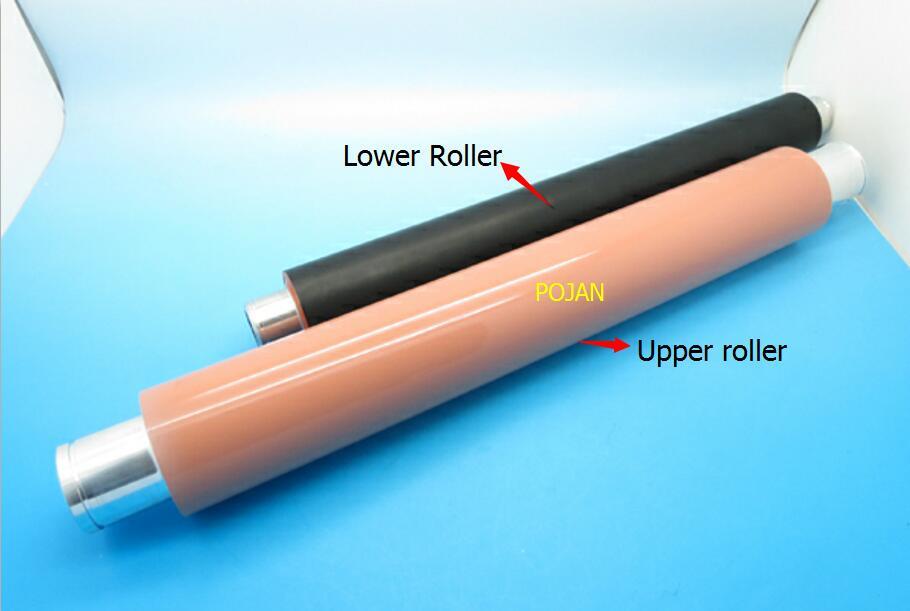 RB2 5948 000 + RB2 5921 000 для LaserJet 9000 9040 9050 верхний валик термозакрепления, нагревательный ролик + нижняя давление роликовый принтер сборщик фьюзера р