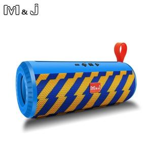 Image 3 - M & J Drahtlose Bluetooth tragbare Lautsprecher Stereo Subwoofer spalte lautsprecher + TF Eingebauten Mic Bass FM USB MP3 Sound boom Box