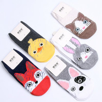 Summer Cartoon Pattern Boat Socks Candy Bar New 2017 Personalized 200 Pin Cotton Socks Ladies Wholesale