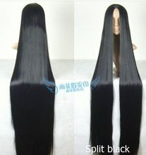150 cm long straight wig black purple red white silver green BLUE Nature Hair Women s