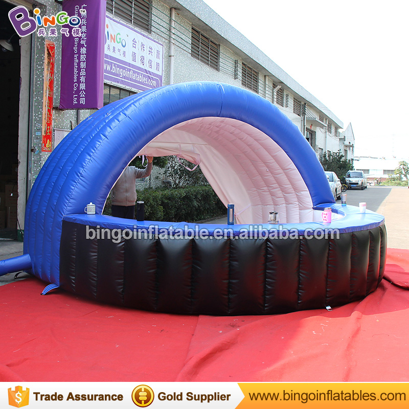 High quality PVC material 4x4x2.5m inflatable kiosk tent for party prop customized inflatable bar counter for advertising booth