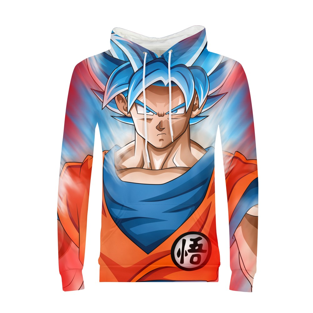 Super Saiyan Goku Bal Z Print Anime Dragon Ball Hoodie 3d Sweatshirt Men/Boy Long Sleeve Clothes 2018 Streetwear Hoodies Male