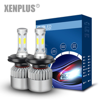 Xenplus 2Pcs Super Bright H4 Led Bulb Car Headlights 72W 8000LM LED Lights 6500K White 12V