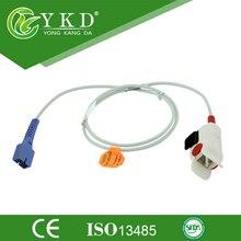 10PCS/ Lot Free Shipping FOR New 9 pin plug Nellcor DS-100A Pediatric Finger Clip Spo2 Sensor, Oximax