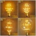 E27 Vintage Edison Retro Firework Árvore Brilhante 2 W 220 V Eficiente Lâmpada G80 G95 G125 Filamento Prático Estilo decoração