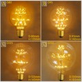 E27 Vintage Retro Firework Edison Bright 2W 220V Efficient Tree Filament Practical Light Bulb G80 G95 G125 Style Decoration