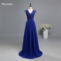ZJ5120 purple royal blue Dark Navy Blue V neck Evening Dress Lace 2017 Formal Dresses Mother of the Bride Dresses Plus Size