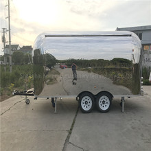 Vintage Stainless Steel Mobile Food Trucks Trailers for Fast Food emorque voiture