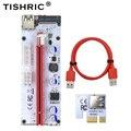 TISHRIC 10 шт. VER008S Molex 4Pin SATA 6PIN PCIE PCI-E PCI Express Riser Card 008s адаптер 1X к 16X USB3.0 удлинитель майнинга