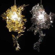 Бесплатная доставка творческий сделай сам нержавеющей стали гирлянда свет среда лампы, рождественские подарки для света висит люстра свет