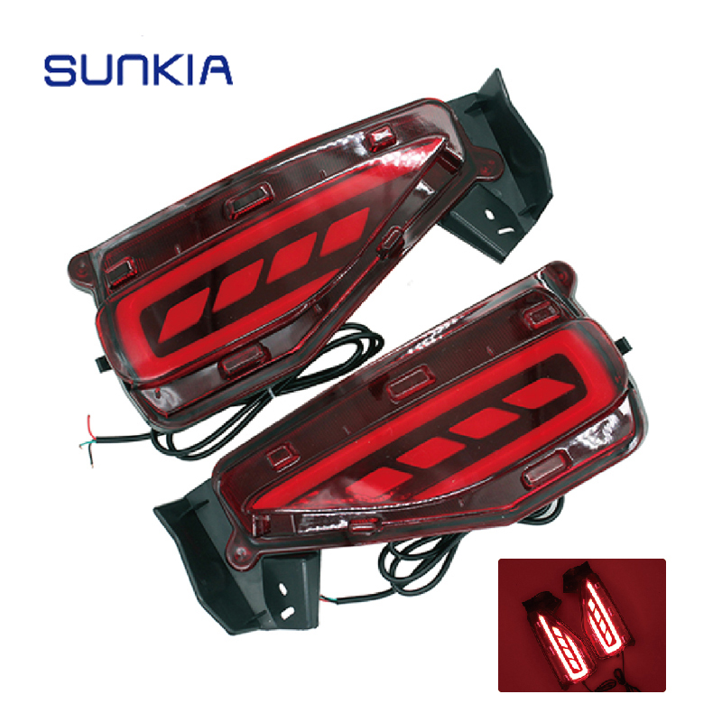SUNKIA New Car Rear Fog Light Lamp Car Styling Specific for Toyota Fortuner 2015 2016 12v DC with Brake Light yatour car adapter aux mp3 sd usb music cd changer 6 6pin connector for toyota corolla fj crusier fortuner hiace radios