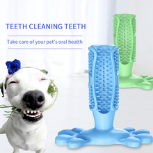 Pet Dog Toothbrush Chew Toy Natural Rubber Bite Resistant Effective Dental Care Brushing Stick for Dogs Tooth Cleaning