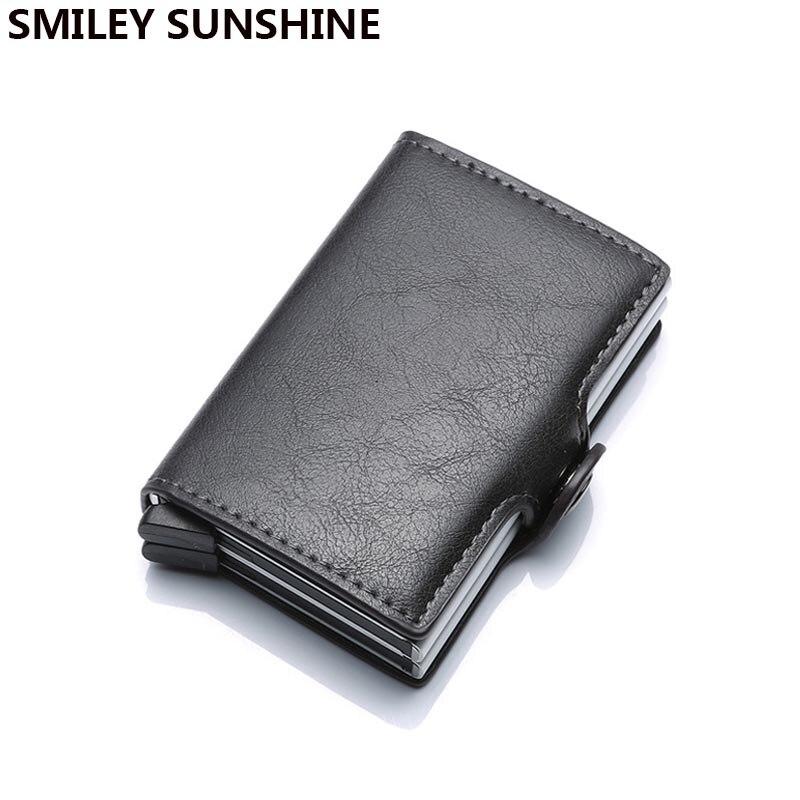 vente chaude commander en ligne magasin officiel € 9.52 56% de réduction|2 boîte Anti Rfid Protection hommes femmes mince  Mini portefeuille pour porte carte de crédit en cuir Pu en aluminium étui  ...