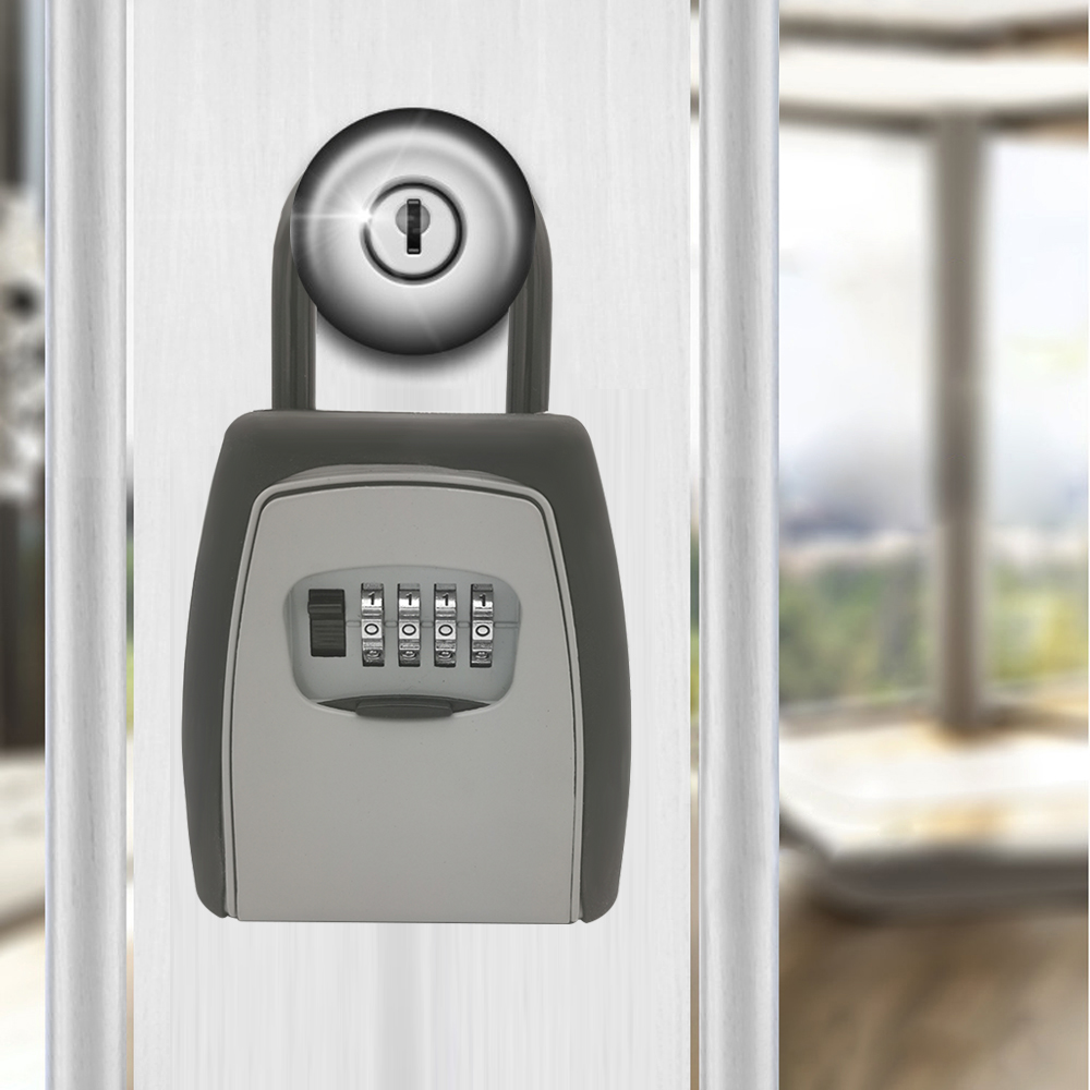 Image 2 - Key Storage Lock Box Safe Box Keys Storage Box Padlock Use Password Lock Alloy Material Keys Hook Security Organizer BoxesSafes   -