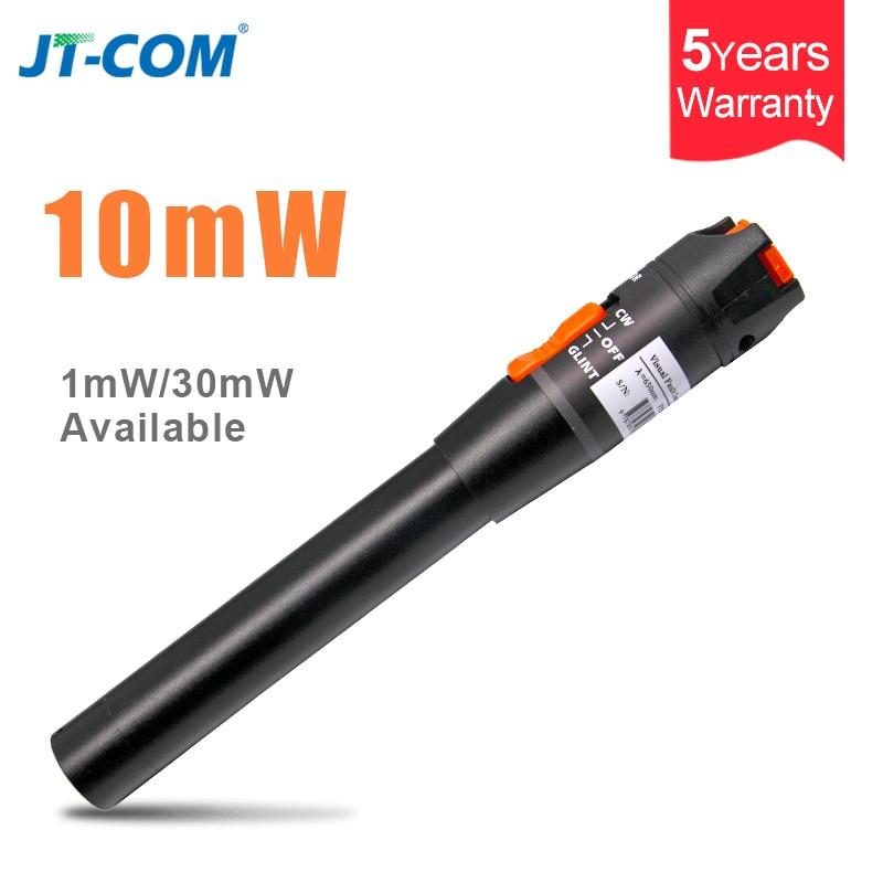 10mw Tipo Bolígrafo Plástico Visual Fault Locator Fibra Óptica Probador de Cable de prueba 5-8km