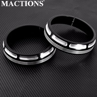 Motorcycle Burst Collection Trim Ring 4 1/2 Auxiliary Lamps Headlight For Harley Touring Electra Glide Street Glide FLHX 1Pair