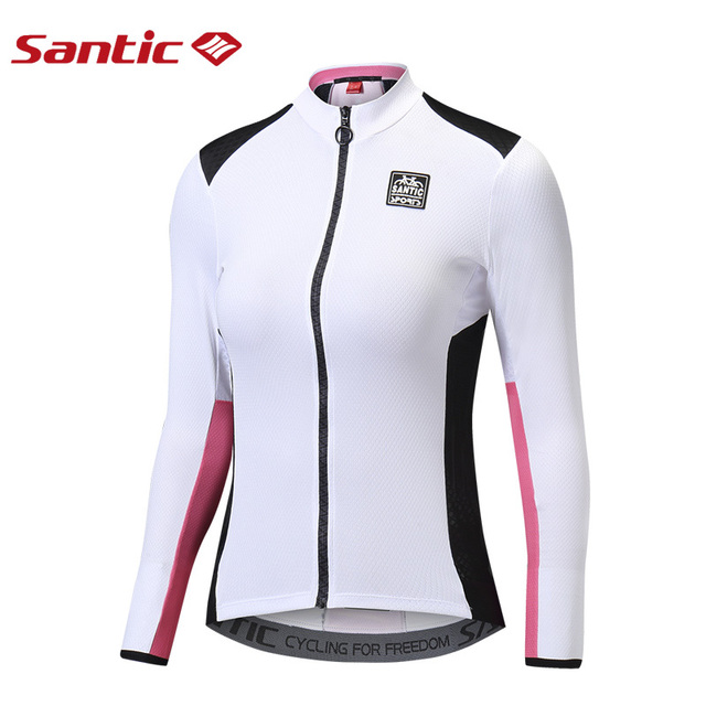 6ab2cbfa0 SANTIC Women Quick Dry Cycling Jersey Long Sleeve Triathlon Mtb Road  Bicycle Jersey Breathable Running Fitness