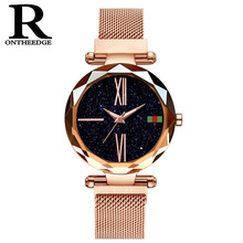 ladies wristwatches waterproof fashion woman Rome style clocks luxury womens watches quartz stainless steel magnet female wacth