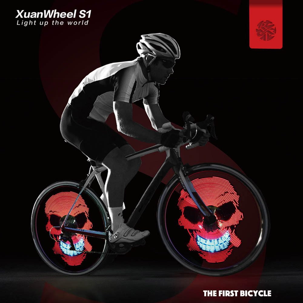 buy bike wheel lights led bicycle spoke light xuanwheel app for night riding. Black Bedroom Furniture Sets. Home Design Ideas