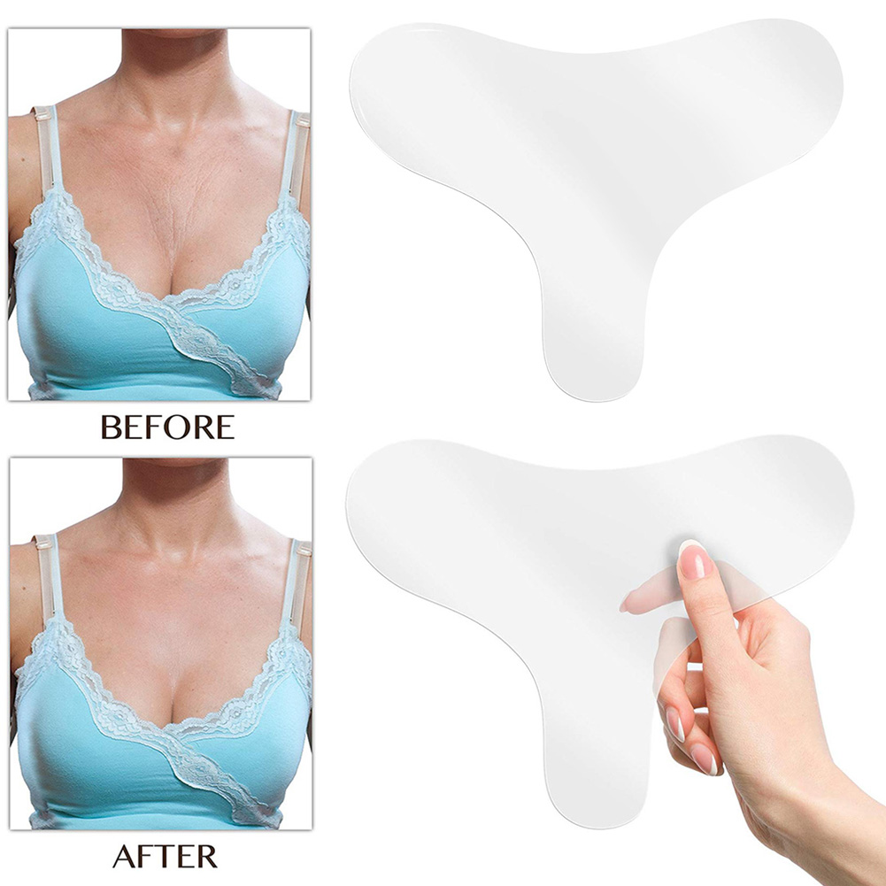 New Hot Reusable Anti-Wrinkle Chest Pad Silicone Care Pads For Anti Aging Eliminate Wrinkles DC88 For Massager