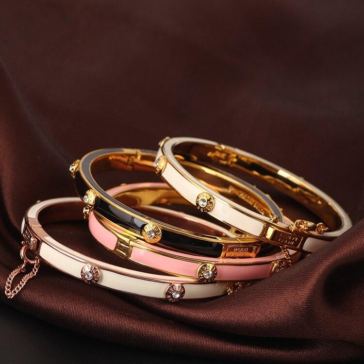 Europe and the United States popular enamel buckle buckle bracelet female fashion wild bangle jewelry