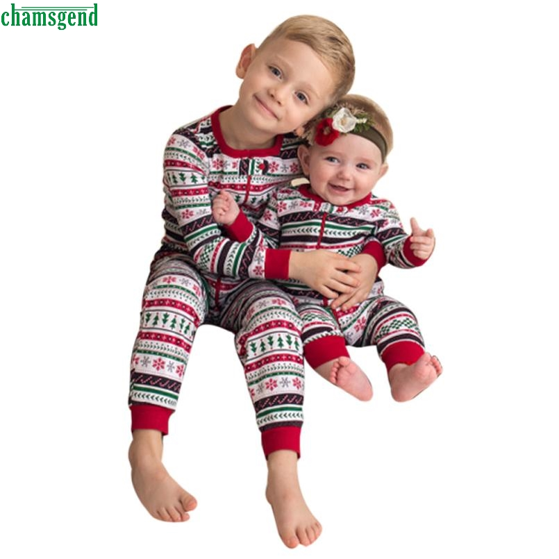 New Dropship Cute Fashion Newborn Infant Baby Boy Print Romper Jumpsuit Christmas Outfits Brother Clothes H Sep
