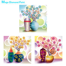 Flower vase Special shaped Diamond Painting crystal Round Partial Drill floral 5D Nouveaute DIY Mosaic Embroidery Cross Stitch