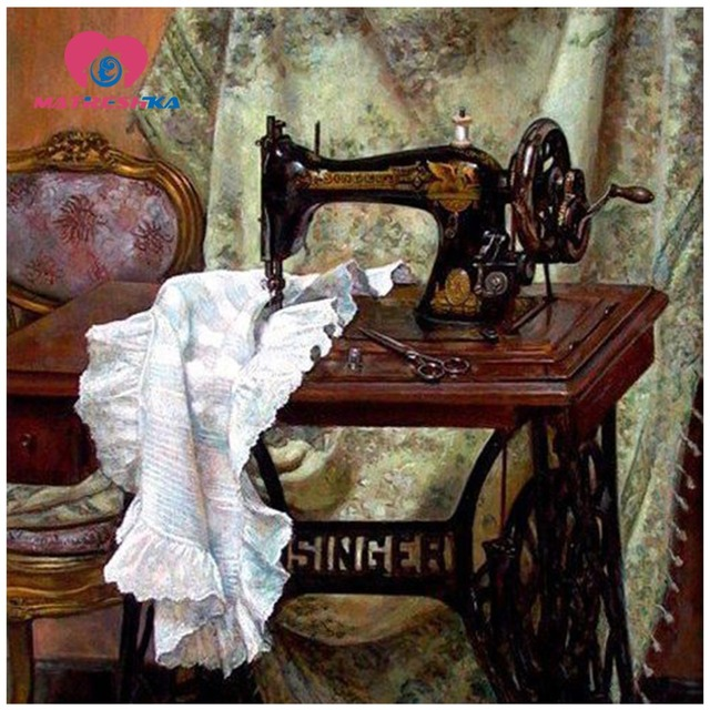 Diamond Embroidery Still Life Sewing Machine 40d Diy Diamond Painting Custom Embroidery Sewing Machine Sale