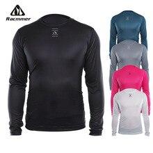 Racmmer велосипедная крутая сетчатая одежда для фитнеса, велосипедная базовая одежда, велосипедная рубашка с длинным рукавом, спортивное дышащее нижнее белье, Ciclismo