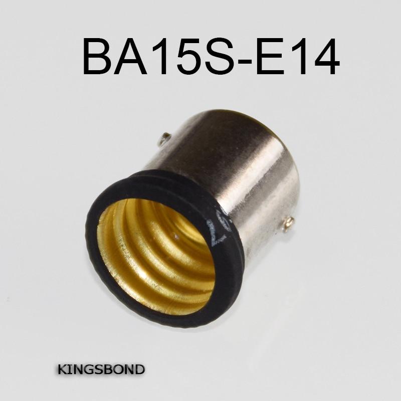 Freeshipping 10pcs/lot portable BA15s to E14 led lamp base converter light bulb holder B15 to E14 led socket