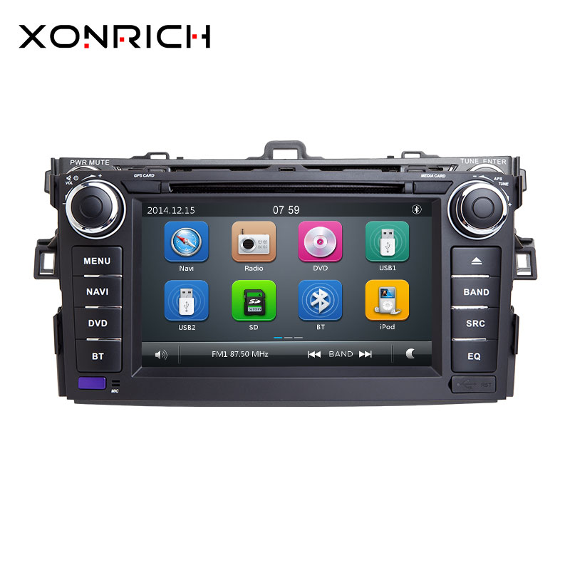 Autoradio 2 Din Car DVD Player For Toyota AURIS Toyota Corolla Altis 2012 2013 Tape Recorder Multimedia GPS Stereo Navigation Autoradio 2 Din Car DVD Player For Toyota AURIS Toyota Corolla Altis 2012 2013 Tape Recorder Multimedia GPS Stereo Navigation