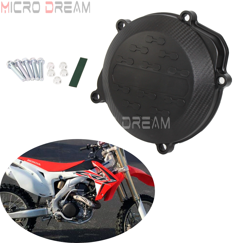 Dirt Bike Motorcycle Engine Stator Clutch Cover Case Guard Black For Honda CRF450R <font><b>CRF</b></font> <font><b>450</b></font> R 2009-2015 2016 image