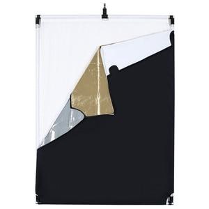 Image 3 - 60*90 cm 27in * 35in słońce siatka duży 5in1 czarny srebrny złoty biały dyfuzor reflektor ramka ze stopu aluminium do fotografii