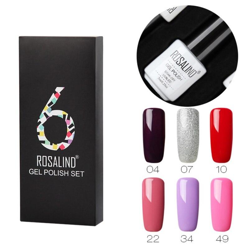 New 7 Ml Nail Set Soak Off UV Nail LED Long-lasting Polish Set For Manicure Gel UV Nail Polish Set