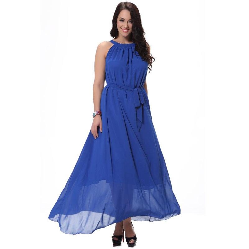 Bohème plage robe évasée large solide mousseline De soie longue Maxi robe mouchoir grande taille ourlet robes robes Longos De Verao 6xl