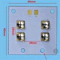 UV LED module for 3D printer 40 watts LED UV violet 6565 365 370nm 380 385nm 395 400nm 400 405nm 40*40mm series connection