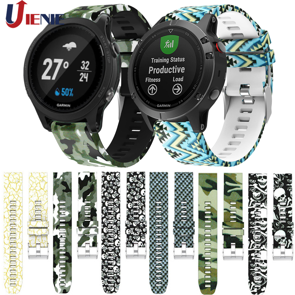 22mm Sport Watchband Strap For Garmin Instinct/Fenix 5 5Plus/Forerunner 935 945 Smart Watch Bracelet Silicone Wristband
