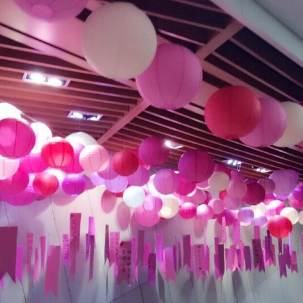 1pc 15cm 20cm 30cm Round Chinese Paper Lanterns Birthday Wedding ...