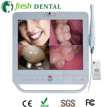 5PCS Dental Intraoral Camera System With 15 Inch Monitor Wired/Wireless Intra Oral Unit VGA+VIDEO+USB LCD Holder endoscope TW123