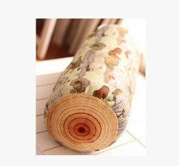 Holz Log Kissen/Baumstumpf Holz Textur Werfen Kissen In Die Auto Schmücken Holz Stumpf Zurück Kissen Simulierte Baum kissen Q146