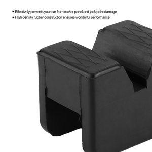 Image 3 - Black Slotted Frame Rail Floor Jack Disk Rubber Pad Fits For Pinch Weld Side HOT