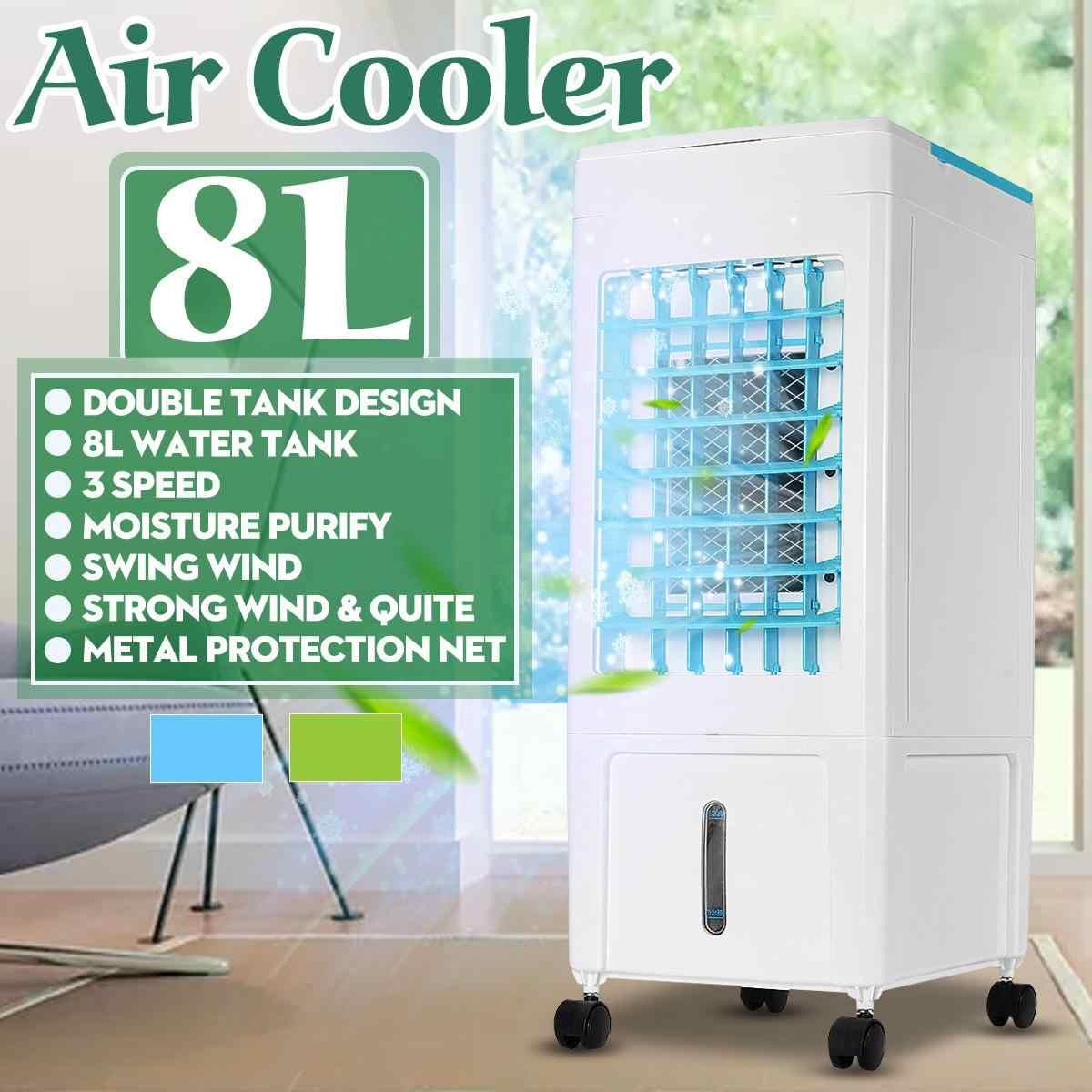 Ventilador Silencioso 3 Modos y 3 velocidades oscilante 65W Humidificador,Purificador Temporizador OZEANOS Climatizador evaporativo con Mando a Distancia dep/ósito 10.8 l 2 Cajas Hielo