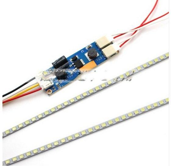 Highlight Dimable LED Backlight Lamps Update LED Light For 19'' 20''22'' 24''26''27'' LCD Monitor 2 LED Strips+Board Set 620mm