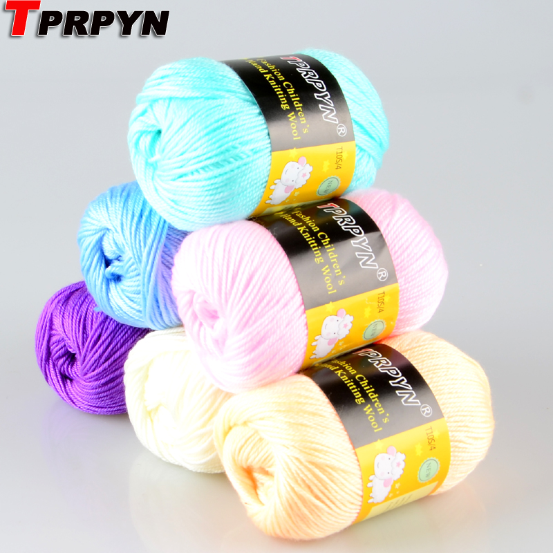 TPRPYN 1pc=50g Wool Blended Silk Yarn Soft Eco-friendly Cashmere Yarn Thread String For Knitting Sweater