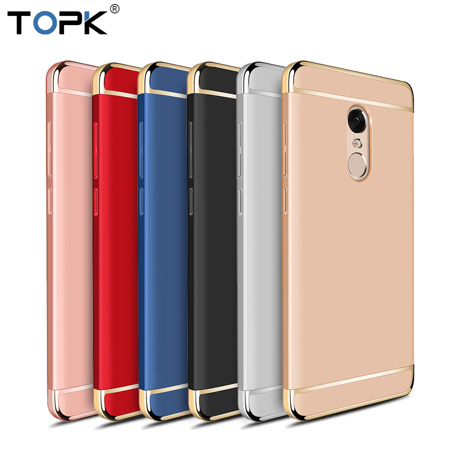 TOPK Xiaomi RedMi Note 4X Case Luxury 3-IN-1 Shockproof Frosted Shield Hard Back Cover Case for Xiaomi Redmi